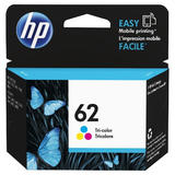 HP 62 C2P06AN Original Tri-Color Ink Cartridge Genuine Product from HP OEM - Budget Printing & Supplies