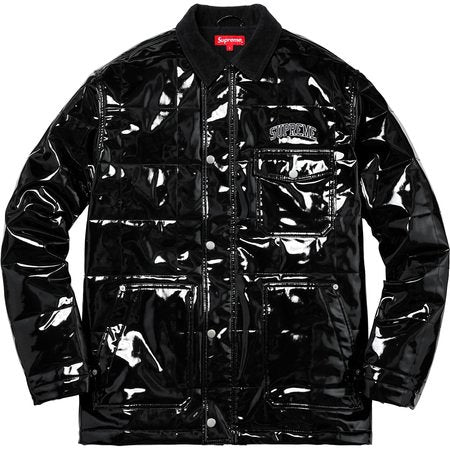 SUPREME QUILTED PATENT VINYL WORK JACKET - ATLAS