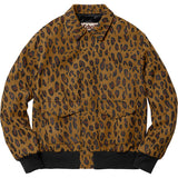 "SUPREME x SCHOTT NYC SUEDE A2 JACKET ""CHEETAH"" - ATLES"