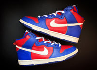 "NIKE DUNK HIGH ""ROYAL - VARSITY RED"" (2003)"