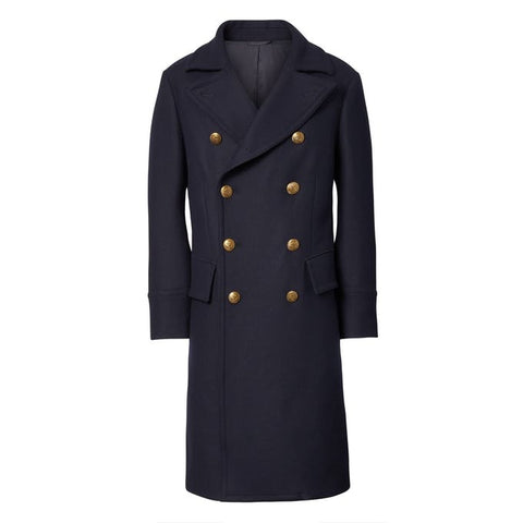 BANANA REPUBLIC HERITAGE ITALIAN MELTON WOOL-BLEND DOUBLE-BREASTED COAT - ATLAS