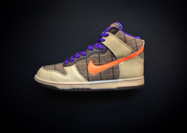 "NIKE DUNK HIGH PREMIUM ""TWEED - ORANGE BLAZE"" (2007)"
