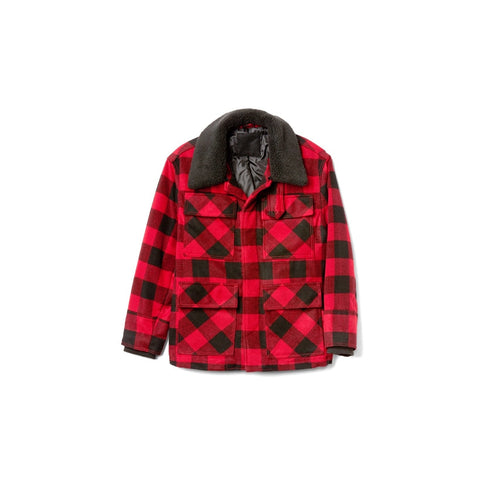 GAP x GQ x AMI PARIS PLAID SHERPA COLLAR JACKET - ATLAS