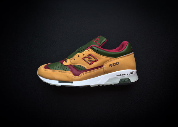 "NEW BALANCE M1500TGB ""TAN - OLIVE RED"" - MADE IN ENGLAND"