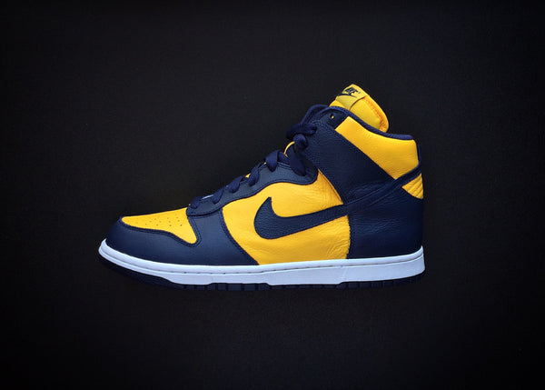 "NIKE DUNK HIGH RETRO QS ""MICHIGAN"" (2016) BE TRUE TO YOUR SCHOOL - ATLES"