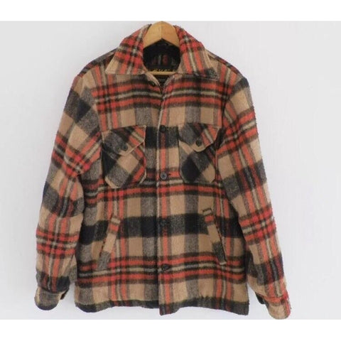 JOHN BLAIR VINTAGE WOOL LUMBERJACK PLAID JACKET - ATLAS