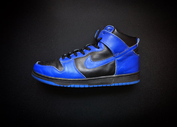 "NIKE DUNK HIGH FOOTACTION EXCLUSIVE ""ROYAL BLUE - BLACK"" (1999) - ATLAS"