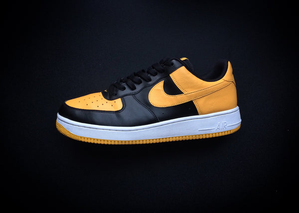 "NIKE AIR FORCE 1 LOW ""BLACK YELLOW"" (2016)"