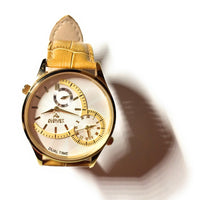 AUGUST STEINER DUAL TIMED GOLD-TONE MENS WATCH - ATLAS