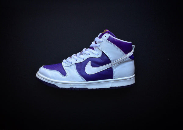 "NIKE DUNK HIGH LE ""CITY ATTACK - VARSITY PURPLE"" (1999)"