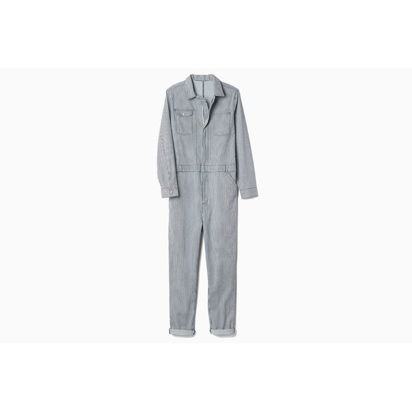 GAP x GQ x UNITED ARROWS RAILROAD-PINSTRIPED DENIM COVERALLS - ATLAS