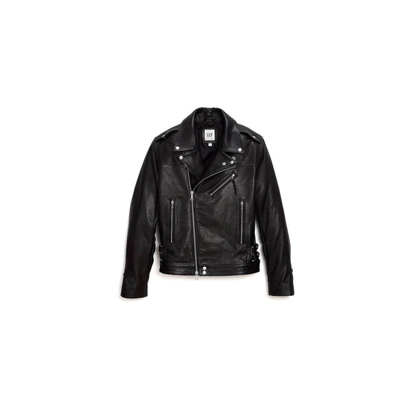 GAP x GQ x JOHN ELLIOTT MOTORCYCLE RIDER LEATHER JACKET - ATLES