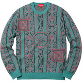 "SUPREME TAPESTRY SWEATER ""TEAL"" - ATLAS"