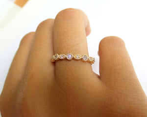 14K Gold Diamond Eternity Band