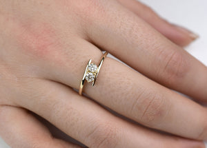 Two Stone Ladies Diamond Solitaire Ring / Forever us Diamond ring