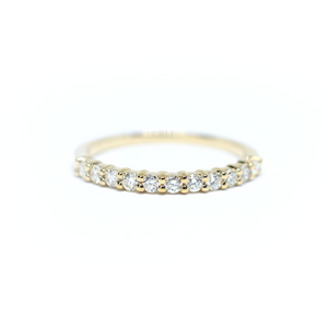 14K Yellow Gold 11 Diamond Wedding Band