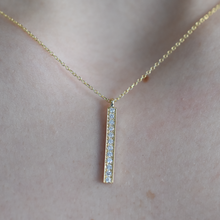 14k Diamond Bar Necklace