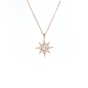 rose gold north star necklace