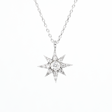 white gold north star necklace