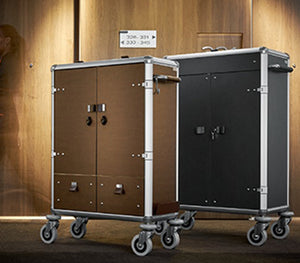 New to Australia! Ascolia's lightest, most stylish Housekeeping Trolley