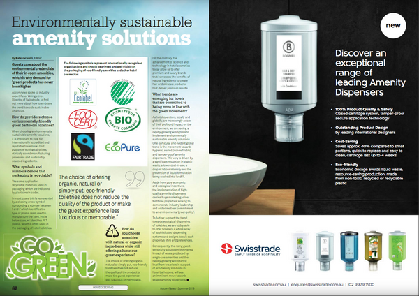 Swisstrade environmentally sustainable toiletry solutions acommnews magazine