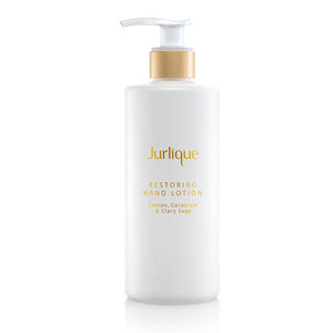 Jurlique Restoring Hand Lotion Lemon, Geranium & Clary Sage, 300ml pump dispenser