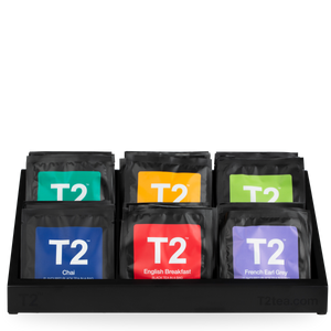 T2 Presentation Tray, 6 Compartments, Black