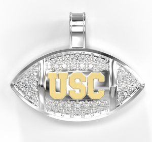 18k two tone gold diamond usc football pendant prototype sold 18k two tone gold diamond usc football pendant prototype sold aloadofball Image collections