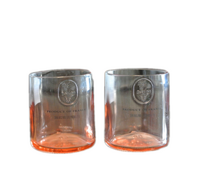 Peach Ciroc Drinking Glasses