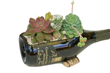 Wine Bottle Planter or Wine Bottle Decor Centerpiece - Fun Wine Gift for a Wine or Succulents Lover