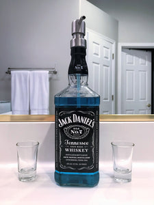 Jack Daniels Whiskey Glass Soap Dispenser - Jack Daniels Decor for Dad or Boyfriend