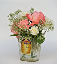 Crown Royal Whiskey Bottle cut into Vase Candy Dish Snack Bowl or Planter - Whiskey Lover Gift