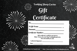 Print a Gift Certificate - Last Minute Gift - PDF