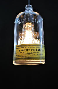 Bulleit Pendant Light Shade - Bourbon Bottle Light - Whiskey Gift for Boyfriend
