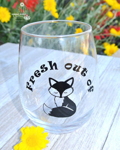 Fresh Out of Fucks - Wine Lover Gag Gift - Funny Fox Wine Gift