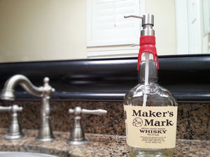 Makers Mark Whiskey Soap Dispenser -  Dispenser Boyfriend Gift