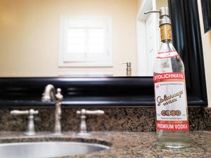 Stoli Vodka Bottle Soap Dispenser -  Stolichnaya Bathroom Decor