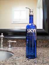 Skyy Vodka Bottle Soap Pump - Blue Soap Pump - Unique Bathroom Soap Dispenser
