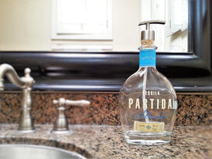 Partida Tequila Bottle made into Cute Soap Dispenser  - Glass Soap Dispensers for Bathroom Decor