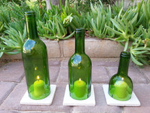 Wine Bottle Candle Holders WITH TILES - Wine Gifts