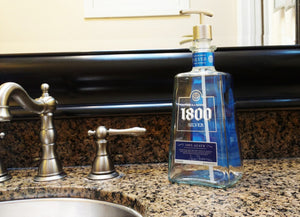 Silver 1800 Soap Dispensers - Dish Soap Bottle