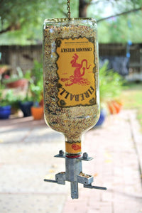 Fireball Whisky Glass Bird Feeder For Garden - Dad Whiskey Gift
