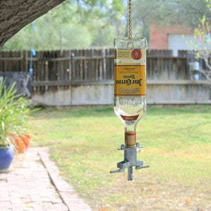 Jose Cuervo Glass Bird Feeder for Garden