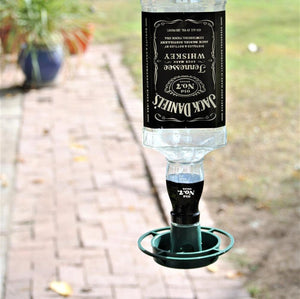 Jack Daniels Glass Bird Feeder - Bird Lover Gift - Bottle Bird Feeder - Jack Daniels Decor