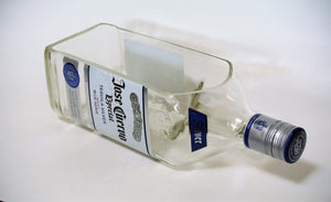LARGE Jose Cuervo Bottle Cut into Snack Bowl - Serving Dish or Succulent Planter