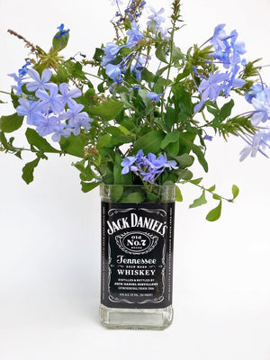 Jack Daniels Bottle Flower Vase
