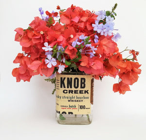 Knob Creek Bourbon Bottle Bottle Vase -  Flower Vase Bottle Decor