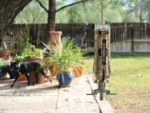 St Germain Glass Bird Feeder for Garden - Bird Lover Gifts  made from St Germain Bottle