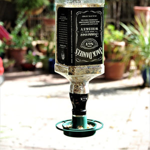 Jack Daniels Glass Bird Feeder