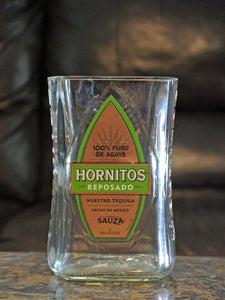 Tequila Bottle Flower Vase - Hornitos - Alcohol Gifts - Upcycled Liquor Bottle
